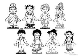 children around the world coloring page professional