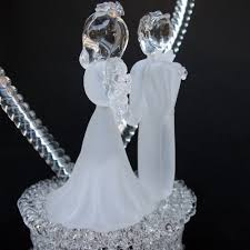 glass wedding cake toppers glass wedding cake toppers casadebormela