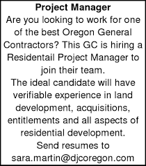 opportunity project manager looking for work local general