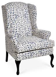 the classic wingback chair gets a modern update with contemporary