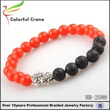 bead bracelet with charm images High performance men red glass beads bracelet with toad charm jpg