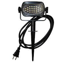 Solar Spot Lights Lowes by Shop Holiday Living Flood Light 3 26 In H Black Led Post Light At