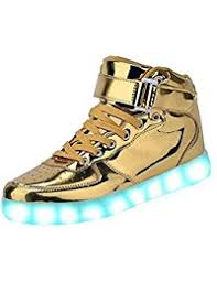 light up shoes gold high top amazon com gold sneakers shoes clothing shoes jewelry