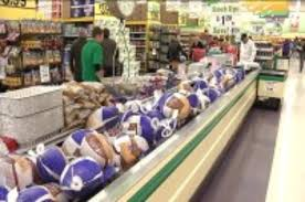 grocery stores busy with shoppers on day before thanksgiving