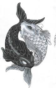 drawings of koi fish yin yang by shrooomz08 on deviantart my
