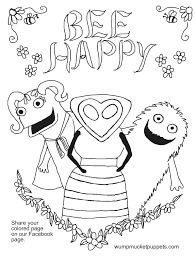 wump mucket puppets free coloring pages