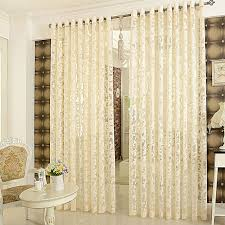 Curtains And Sheers Elegant Jacquard Designed Fashion Floral Sheer Curtains