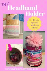 headband organizer headband holder easy diy headband holder and hair tie organizer