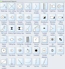 reflected ceiling plan symbols electrical telecom electrical