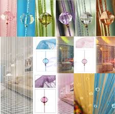 beaded room dividers string curtain beads panel spangle fringe room door window divider