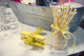 airplane baby shower decorations yellow grey airplane baby shower baby shower ideas themes