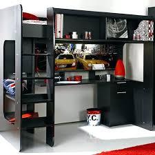 lit mezzanine combiné bureau lit mezzanine junior combine bureau york avec intacgrac noir