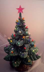 ceramic vintage christmas tree home decorating interior design