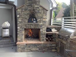 stone kitchen backsplash ideas outdoor kitchen decoration using natural grey stone outdoor
