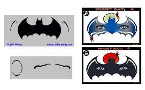 amazon face painting stencil stencileyes night bat batman
