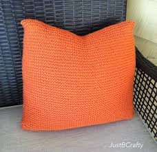 Knitted Cushions Free Patterns Diy Crate And Barrel Inspired Simple Knit Pillow Just Be Crafty