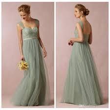 cheap sage convertible dress bridesmaid dress green tulle