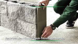 Steine Fur Gartenmauer Häusler Gesellschaft M B H Verarbeitungsvideo Zaunsteine Youtube