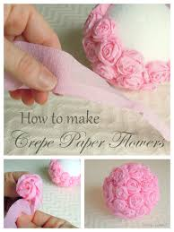 crepe paper flowers craft idea