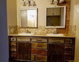 Rustic Wood Bathroom Vanity - reclaimed vanity etsy