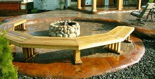 diy curved bench wood working project fire pit bench diy roy home design