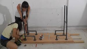 Diy Pipe Desk Standing Desk Topper Diy Creative Desk Decoration