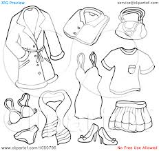 winter clothing colouring pages and coloring clothes printable