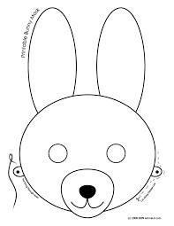 printable easter bunny baby masks woo jr kids activities