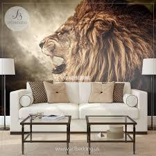 lion wall mural wild lion e self adhesive peel u0026 stick photo