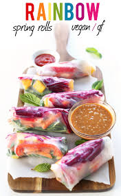 amazing rainbow spring rolls 30 minutes fresh veggie packed and