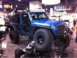blue camo jeep the jeeps just don u0027t stop sema 2013 truck trend