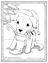 christmas puppy coloring free download