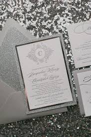 Silver Wedding Invitations Abigail Suite Styled Fancy Glitter Package Silver Wedding