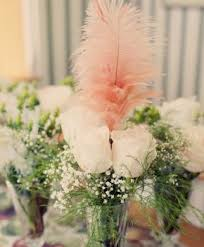 Feather And Flower Centerpieces by 20 Best Wedding Table Decor Images On Pinterest Centerpiece