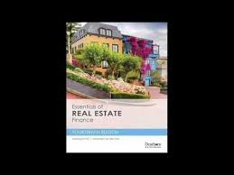 essentials of real estate finance pdf book youtube
