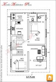 stunning 2 bedroom house plan and elevation in 700 sqft