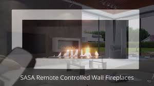 sasa ethanol wall fireplace with remote control afire smart wall