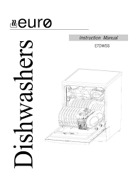 e7dwh ss instruction manual dishwasher domestic implements