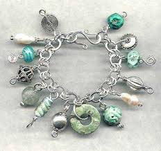 handmade silver charm bracelet images Exotic lampwork and gemstone treasure charm bracelets lady of jpg