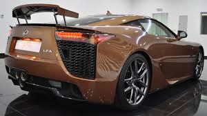 lexus supercar lfa one off lexus lfa looks magnificent in pearl brown autoevolution
