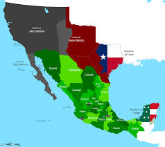 Chihuahua Mexico Map by Texas Revolution U0026 Mexican War History Hub