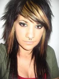 long layered v cut hairstyles