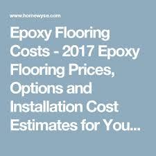 the 25 best epoxy flooring cost ideas on pinterest epoxy garage