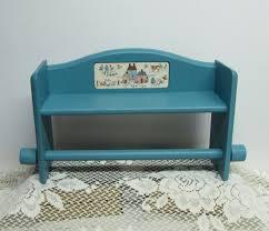 shabby chic white wooden towel shelf with small rod elegant