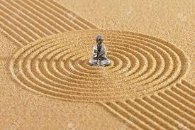 jardin feng shui jardin zen japonais avec le feng shui dans le sable avec bouddha