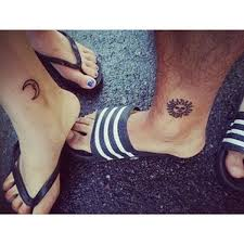 100 sun and moon tattoos for couples 39 best dripping sun
