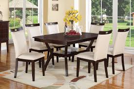 poundex furniture f2290 f1309 7 pc dining table set