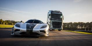 volvo track volvo trucks u0027 to challenge koenigsegg one 1 in new spot