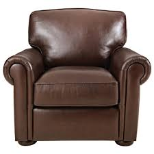 home decorators collection alwin chocolate italian leather lounge