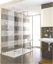 Bathroom Mosaic Design Ideas Decoration Beautiful Brown Glass Mosaic Modern Shower Tile Wall